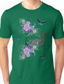 Playful Squirrel and Butterflies Unisex T-Shirt