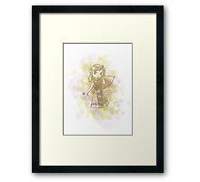 Zelda - splash Framed Print