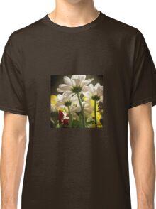 White flowers beautiful nature Classic T-Shirt