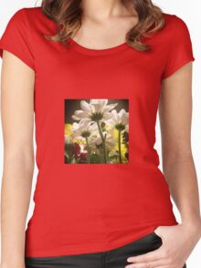 White flowers beautiful nature Women's Fitted Scoop T-Shirt