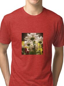 White flowers beautiful nature Tri-blend T-Shirt