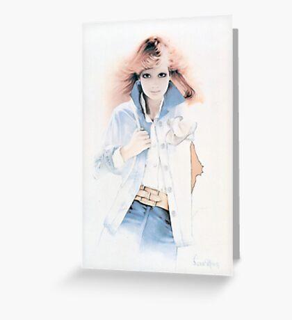 """Bridgitte"" Oil on Canvas Greeting Card"