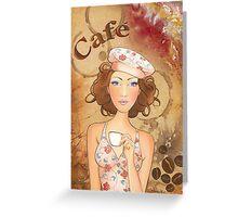 Coffee Girl Greeting Card