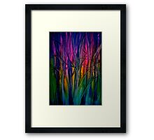 Trees..Abstract...Just Before Dawn Framed Print