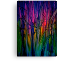 Trees..Abstract...Just Before Dawn Canvas Print