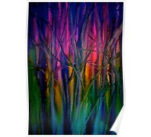 Trees..Abstract...Just Before Dawn Poster