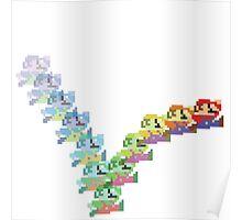 Super Mario Rainbow Jump Poster