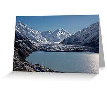 Tasman Lake and Glacier Greeting Card