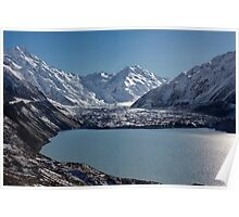 Tasman Lake and Glacier Poster