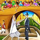 WEDDING ON BARGE by artistcain