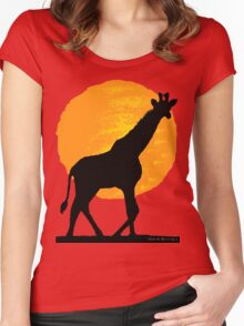 Sunny under the African sky Women's Fitted Scoop T-Shirt