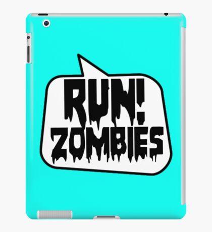 RUN! ZOMBIES SPEECH BUBBLE by Zombie Ghetto iPad Case/Skin