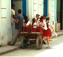 A Cartload of Cuban Children by IngridSonja