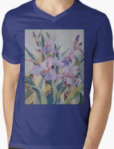 Mauve Iris Mens V-Neck T-Shirt