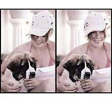 Heather and Biscuit Photographic Print