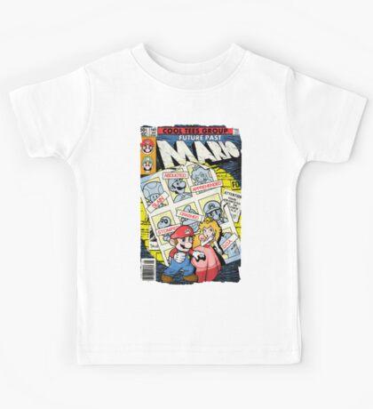 Future Past Mario (FULL COVER) Kids Tee