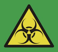 ZOMBIE APOCALYPSE HAZMAT SIGN by Zombie Ghetto Kids Clothes