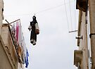 Protected washing, Locorotondo, Puglia, Italy by Andrew Jones