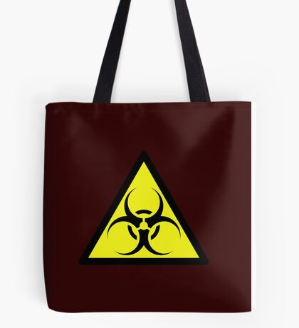 ZOMBIE APOCALYPSE HAZMAT SIGN by Zombie Ghetto Tote Bag