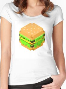 Cute Pixel Burger Women's Fitted Scoop T-Shirt