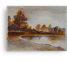 Landscape Sketch#2 Canvas Print