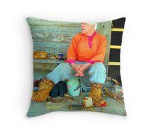 European Basket Maker Throw Pillow