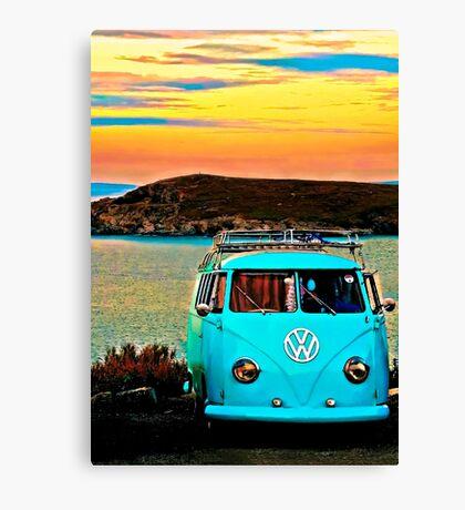 Iconic VW & Sunset. Canvas Print