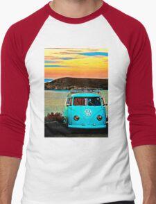 Iconic VW & Sunset. Men's Baseball ¾ T-Shirt