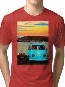 Iconic VW & Sunset. Tri-blend T-Shirt