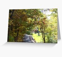 Township Road in the Country Greeting Card