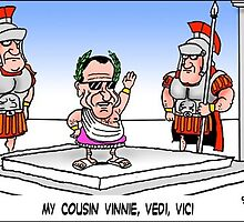 My Cousin Vinnie, Vidi, Vici: A Londons Times Cartoon by Rick  London