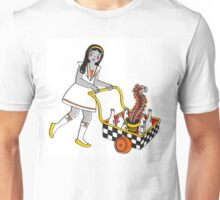 Funky School Girl with a Snake Trolley Unisex T-Shirt