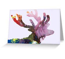 Deer silhouette Greeting Card