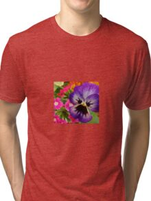 Various types of flowers Tri-blend T-Shirt
