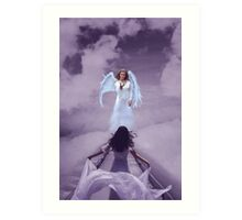 Angels always go home Art Print