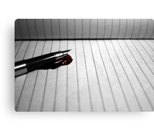 Murdered by QWERTY Canvas Print
