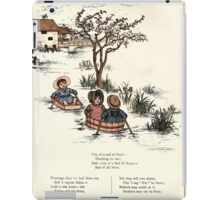 Under the Window Pictures and Rhymes for Children Edmund Evans and Kate Greenaway 1878 0056 Boating iPad Case/Skin