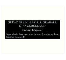 Brilliant Epigram! 2 Art Print