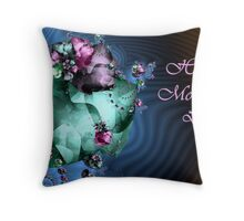 Heart Garden - Mother's Day card Throw Pillow