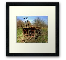 Antique farm equipment left to the elements Framed Print