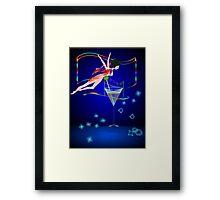 * bling performer :) Framed Print
