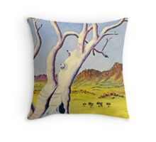 Ghostgums of the north Throw Pillow