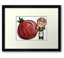 Hannibal vegetables - Onion Framed Print