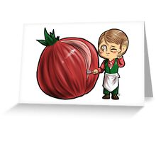 Hannibal vegetables - Onion Greeting Card