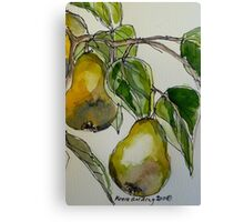 Pears. Detail.  Canvas Print
