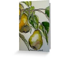 Pears. Detail.  Greeting Card