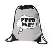 Pregnancy Message from Baby - FEED ME! by Bubble-Tees.com Drawstring Bag