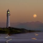 Lighthouse Full Moon by Selsong