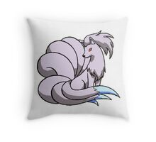 Shiny Ninetails Throw Pillow