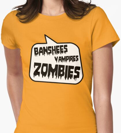 BANSHEES VAMPIRES ZOMBIES by Bubble-Tees.com Womens Fitted T-Shirt